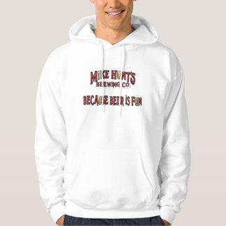 Därför att öl är den roliga hoodien sweatshirt