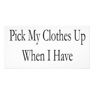 Därför bör jag väljer upp min kläder när jag har foto kort