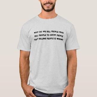 Därför gör, dödar vi folk som dödar folk… tee shirt