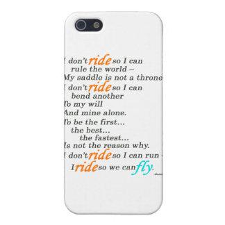 Därför jag rider iPhone 5 fodral