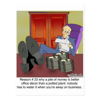 Därför pengar är bättre än, planterar ett inlagt vykort