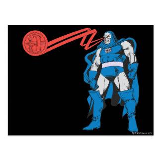 Darkseid använder Psionic överhet Vykort