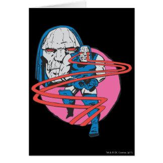 Darkseid forar Omega strålar Hälsningskort