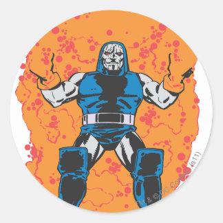 Darkseid förstörelse runt klistermärke