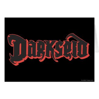 Darkseid logotyp hälsningskort