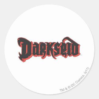 Darkseid logotyp runt klistermärke