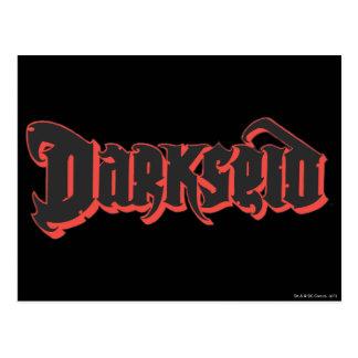 Darkseid logotyp vykort