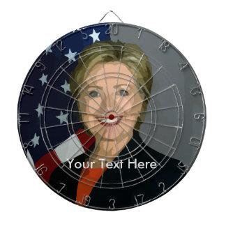 Dartboard för Hillary Clinton beställnings- Darttavla