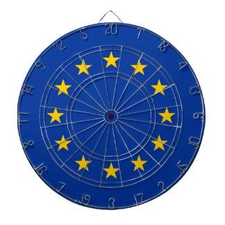 Dartboard med flagga av Europeiska union Darttavla