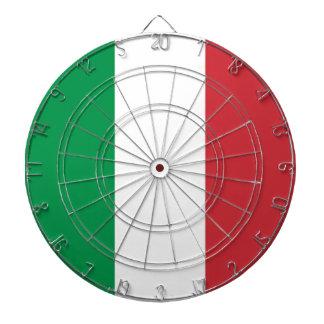 Dartboard med flagga av italien piltavla