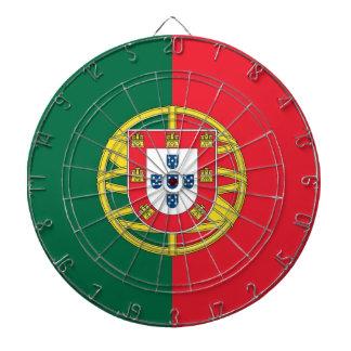 Dartboard med flagga av Portugal Darttavla