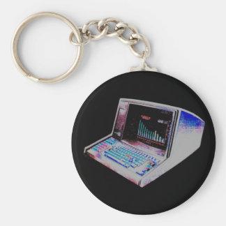 DATOR för VINTAGE för COREY-TIGER80-tal RETRO Nyckel Ring
