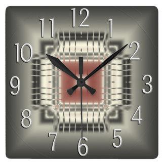 Datorchipväggen tar tid på fyrkantig klocka