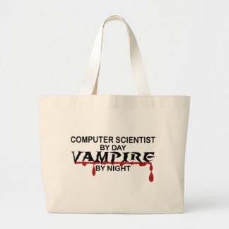 Datorforskare vid dag, vampyr vid natt jumbo tygkasse