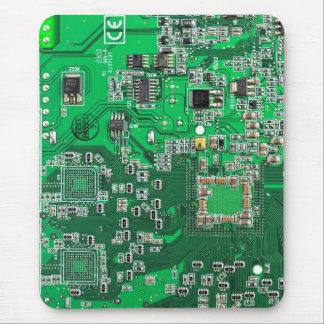 Datorgeeken går runt stiger ombord - grönt mus mattor