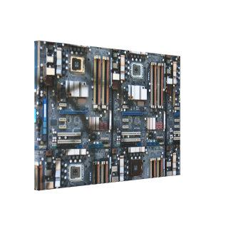 Datormoderkort Canvastryck