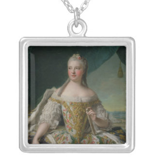 Dauphine Marie-Josephe de Saxe 1751 Silverpläterat Halsband