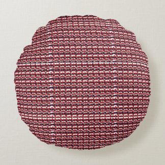 "Dave borstade polyesterrundadekorativ kudde (16"") rund kudde"