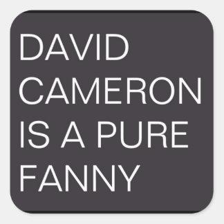 David Cameron Fyrkantigt Klistermärke