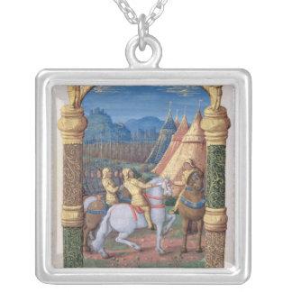 David och Absalom på krig för kronan Silverpläterat Halsband