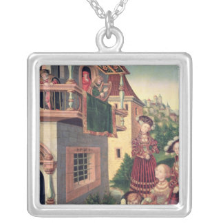 David och Bathsheba, 1528 Silverpläterat Halsband