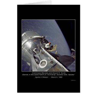 """David R. Scott """"spindel"""" - Apollo 9 beskickning Hälsningskort"""