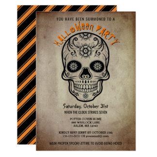 Day of the dead för halloween festsockerskalle 12,7 x 17,8 cm inbjudningskort