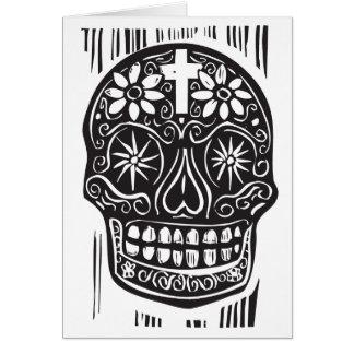 Day of the deadskalle hälsnings kort