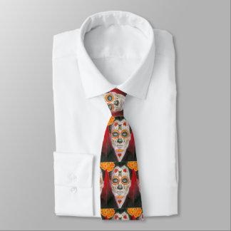 Day of the deadsockerskalle med hjärtor slips