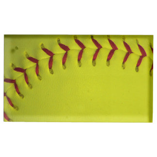 Dayglo gul softball bordskorthållare