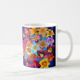 DaylilyCollage på deppigheten Kaffemugg