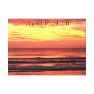 Daytona Beach FL-soluppgång Canvastryck
