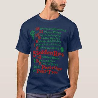 De 12 dagarna av jul t shirts