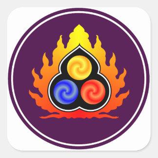 De 3 juvlarna - Taoism/Tao Te Ching/laotiska Tzu Fyrkantigt Klistermärke