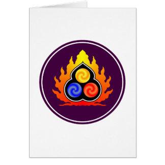 De 3 juvlarna - Taoism/Tao Te Ching/laotiska Tzu Hälsningskort