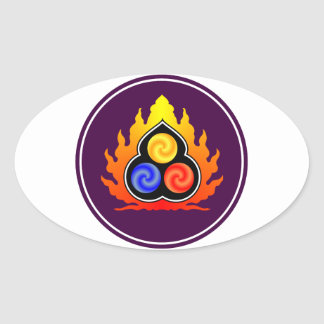 De 3 juvlarna - Taoism/Tao Te Ching/laotiska Tzu Ovalt Klistermärke