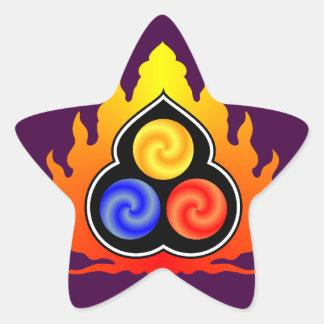 De 3 juvlarna - Taoism/Tao Te Ching/laotiska Tzu Stjärnformat Klistermärke