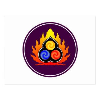 De 3 juvlarna - Taoism/Tao Te Ching/laotiska Tzu Vykort