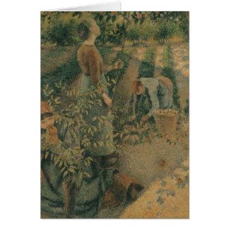 De Apple pickersna, 1886 Hälsningskort
