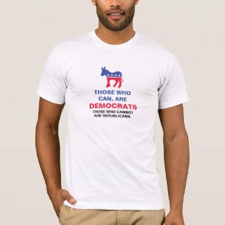 De är kan, är demokrater t shirt