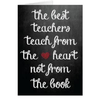 De bäst lärarna hälsningskort