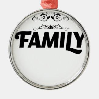 de bäst sakerna i liv är familjen julgransprydnad metall