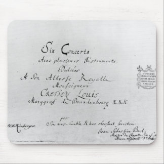 De Brandenburg konserterna, 1721 Musmatta