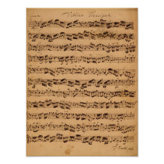De Brandenburger konserterna, No.5 D-Dur, 1721 Poster
