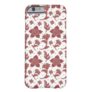 De Burgundy Batikblommorna Barely There iPhone 6 Skal
