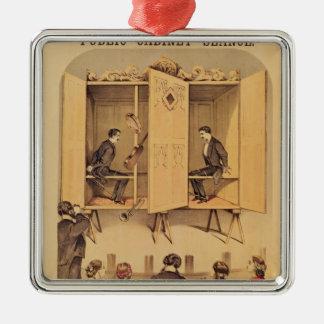 De Davenport bröderna, affisch för seansen, 1865 Julgransprydnad Metall