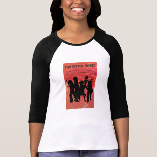 De dö avelkvinna T-tröja för Throwback för 70-tal