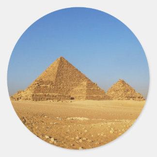 De egyptiska pyramiderna runt klistermärke
