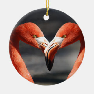 De elegent fåglarna - symbolet för kärlek julgransprydnad keramik