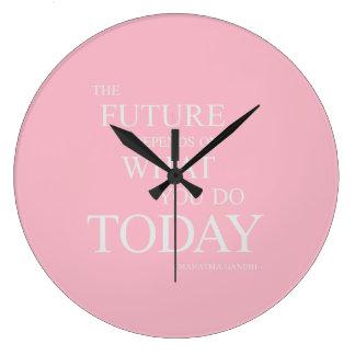 De framtida inspirera Motivational Stor Klocka